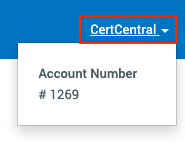 CertCentral account number